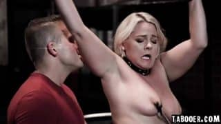 Stepson Codey Steele wants to practice BDSM on his stepmom Lisey Sweet in his deceased father's BDMS dungeon!