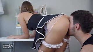 Beautiful Maid Gets Creampied By Boss While Working